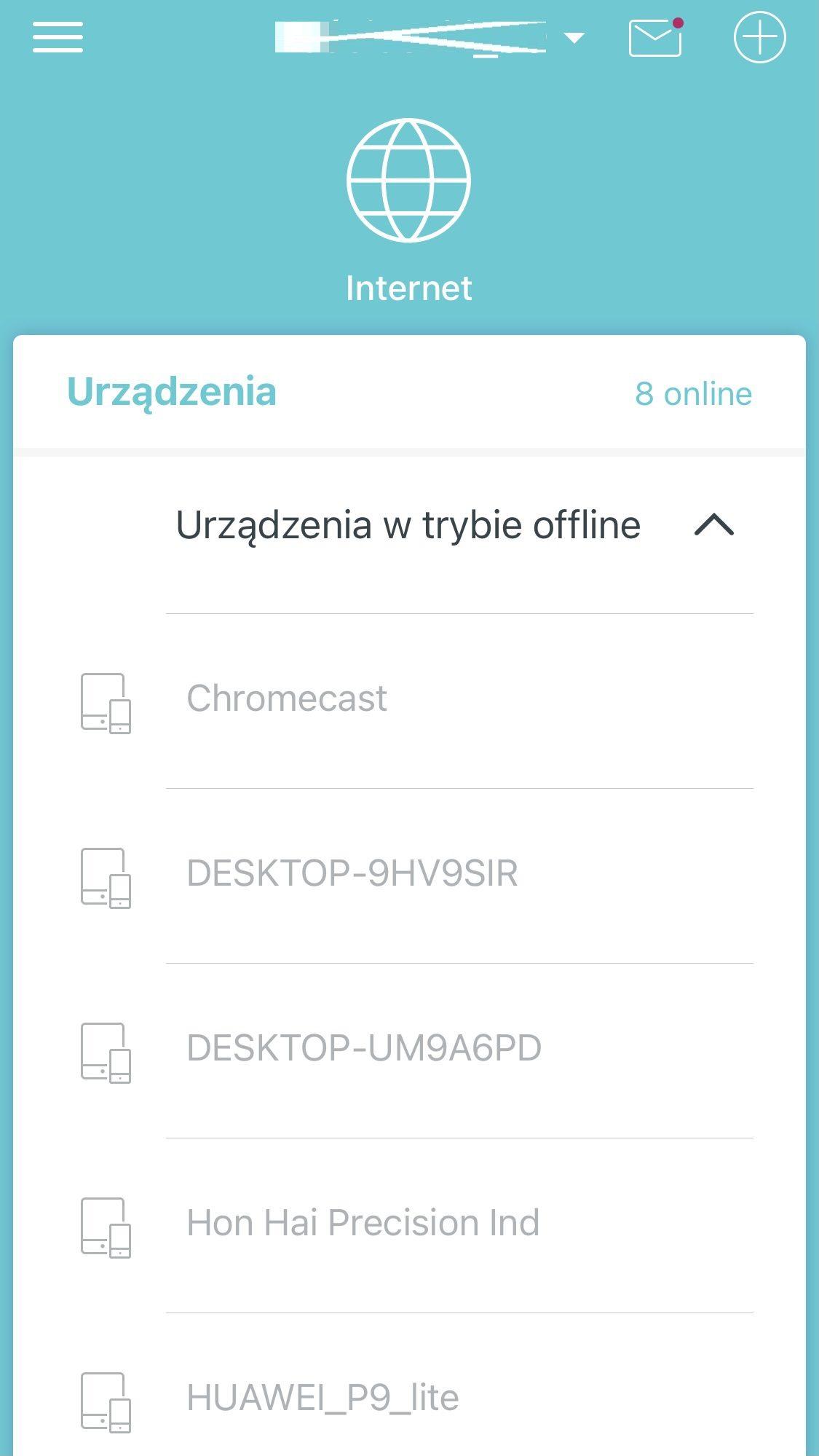 aplikacja deco nieaktywne urządzenia
