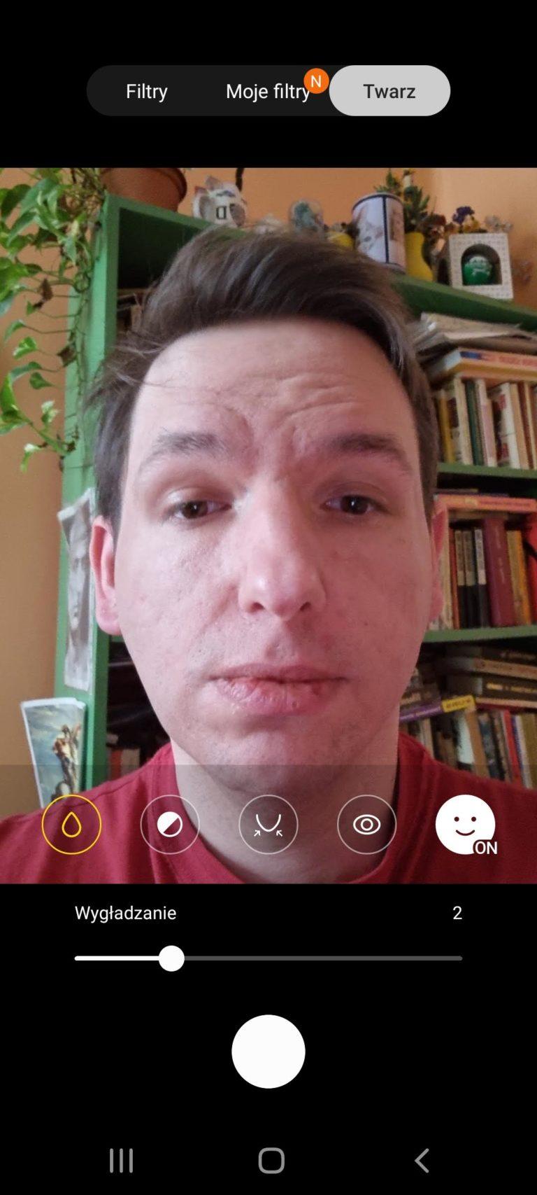 Galaxy S21 interfejs selfie 2