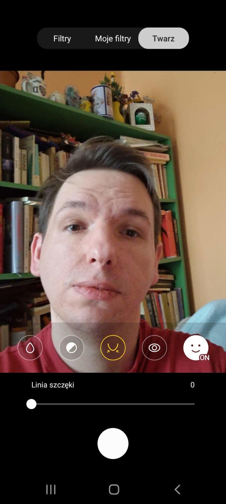 Galaxy S21 interfejs selfie