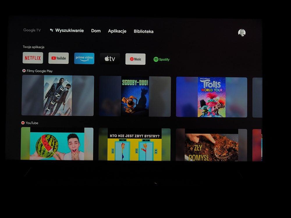 wygląd i opcje interfejsu użytkownika w google chromecast