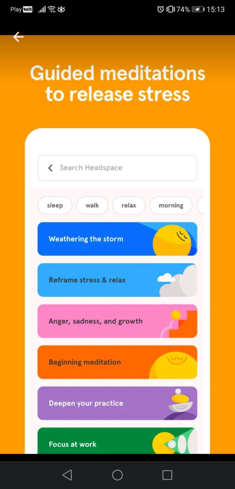 polecane aplikacje do spania headspace