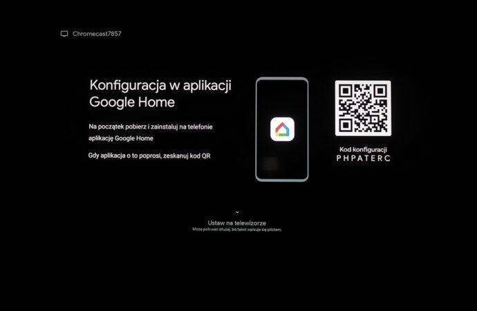 skanowanie kodu google chromecast