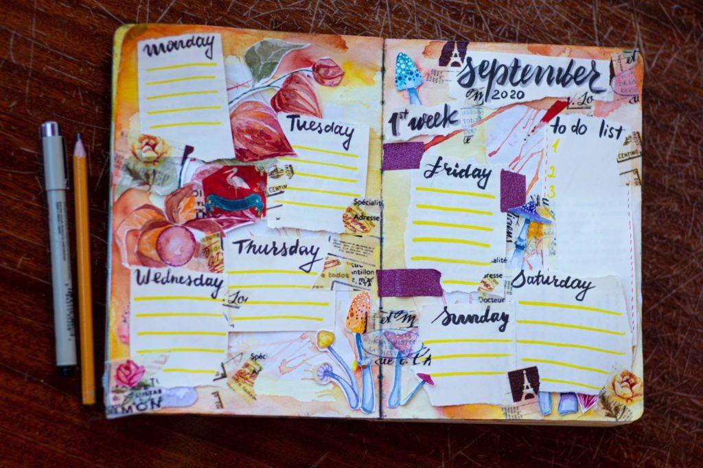 kalendarz scrapbooking