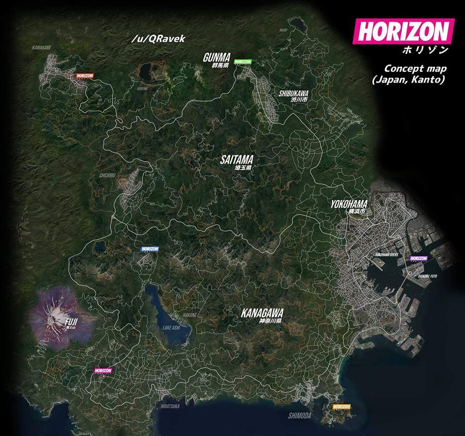 Forza Horizon 5 mapa gry