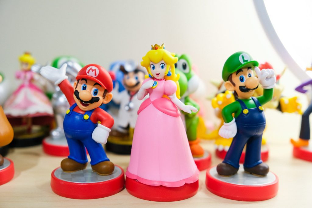 Mario Luigi Peach figurki