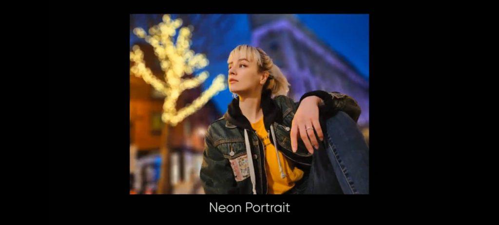 tryb portretowy neon w realme