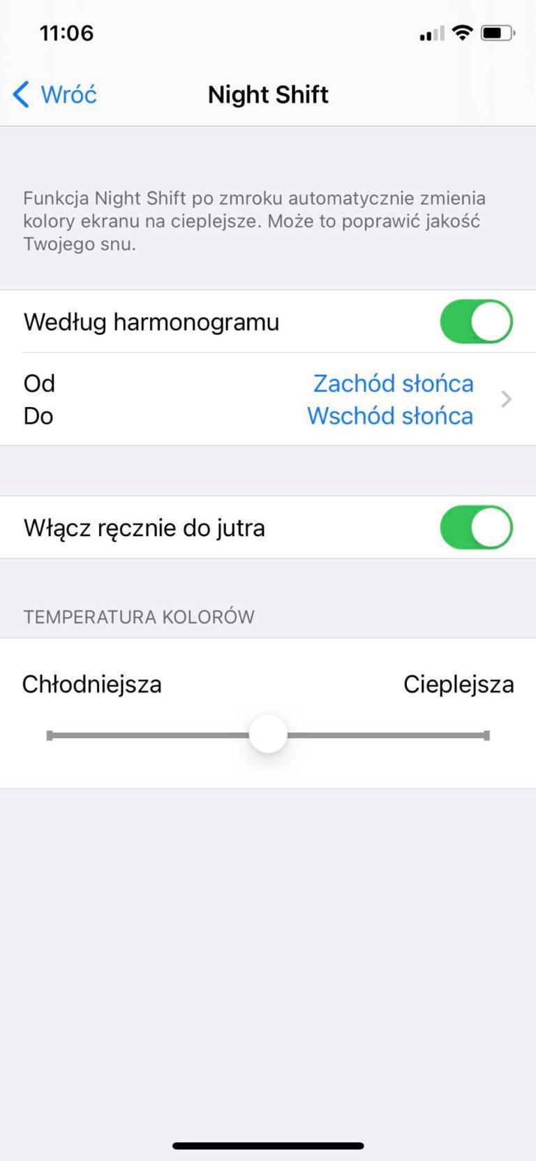 iOS iPhone Jak ograniczyć światło niebieskie na komputerze i smartfonie?