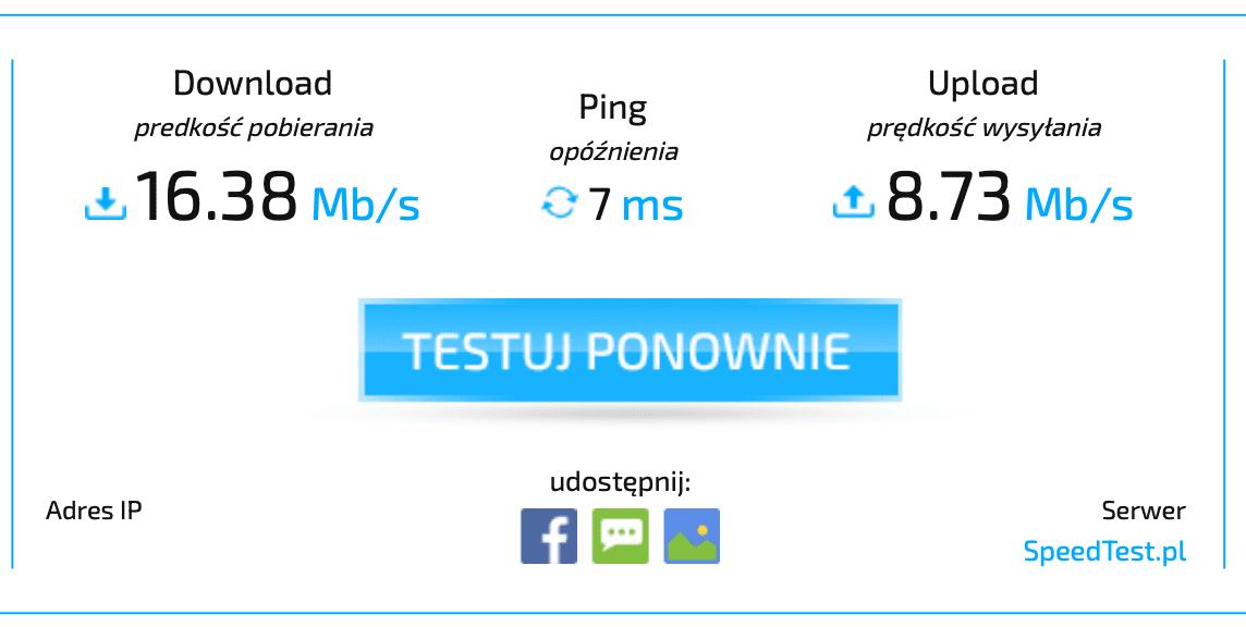 prędkość na starym routerze