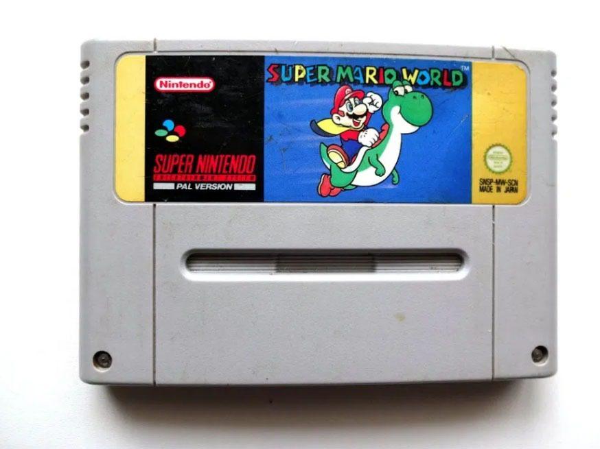 Super Mario World kartridż SNES