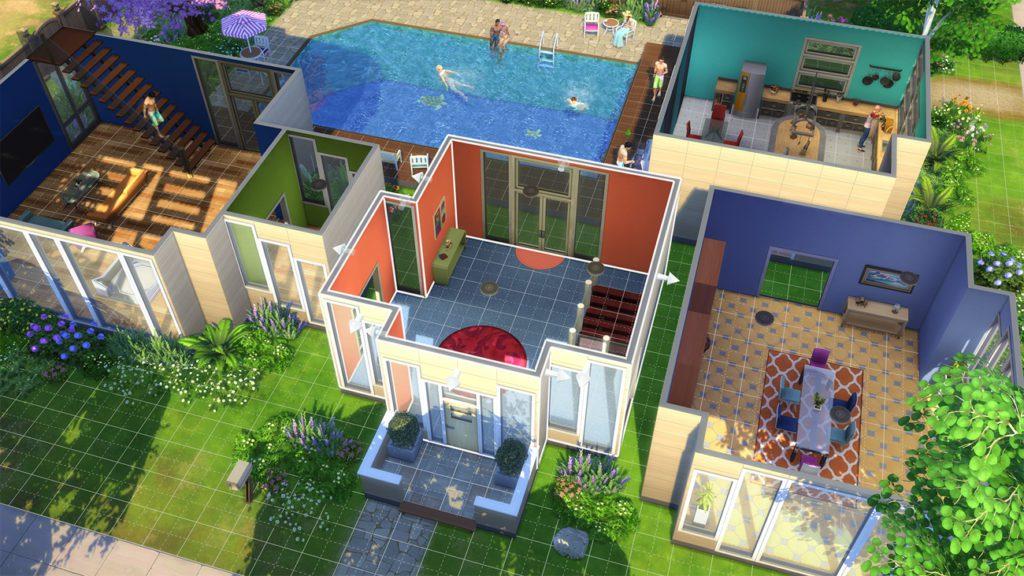 The Sims 4 widok na dom