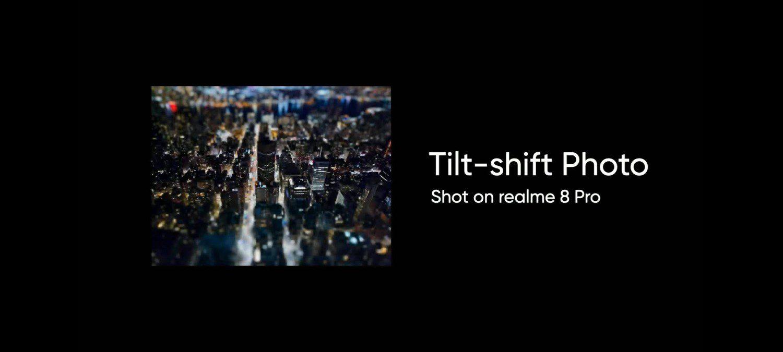 zdjęcie w trybie tilt-shift realme 8 pro