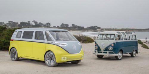 """Volkswagen ID Buzz. Kultowy """"ogórek"""" powraca w wersji elektrycznej"""