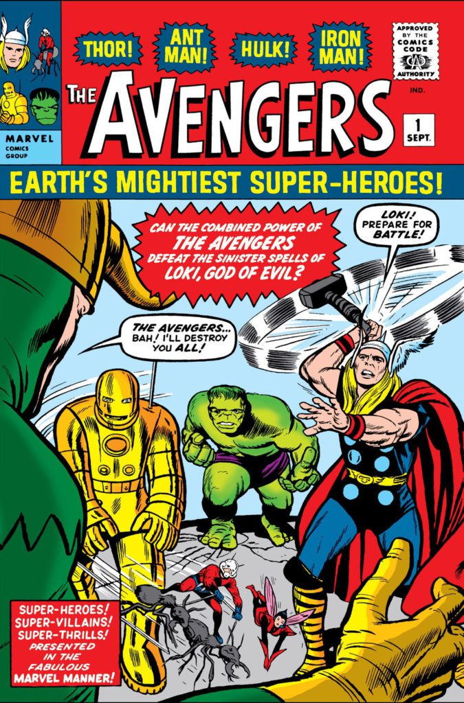 Avengers komiks okładka pierwszy numer