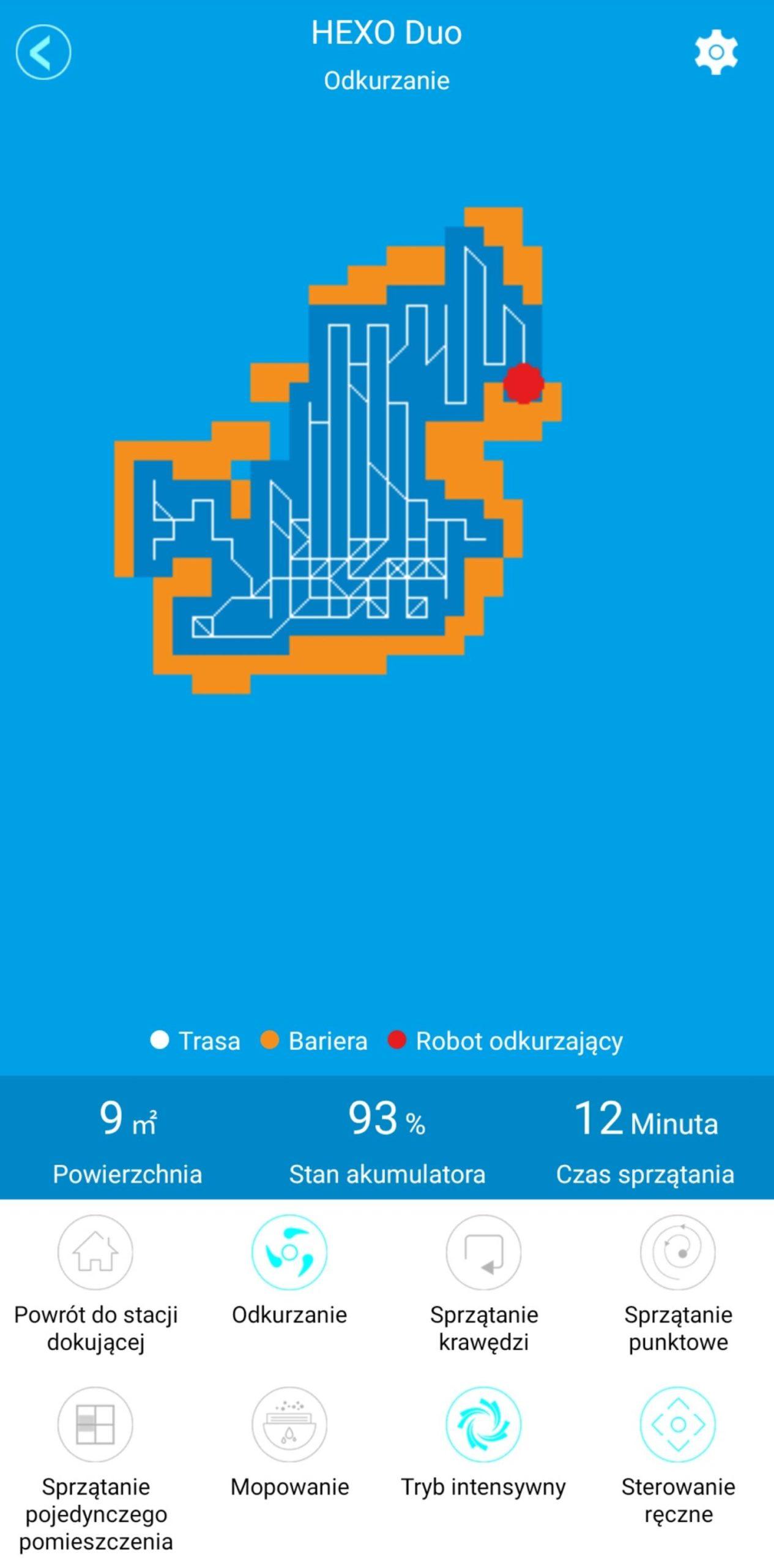 HEXO Home podgląd w aplikacji