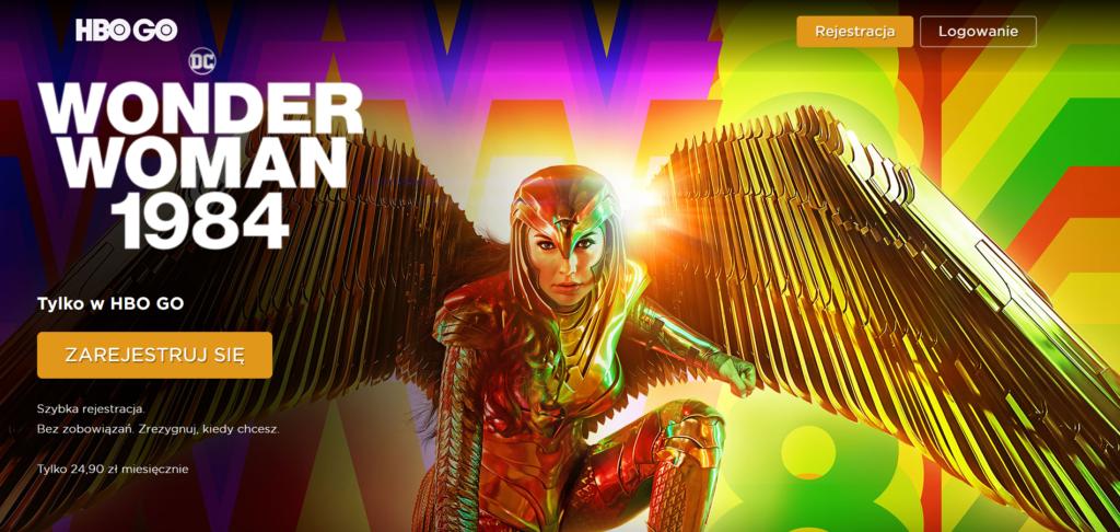 Wonder woman w HBO GO