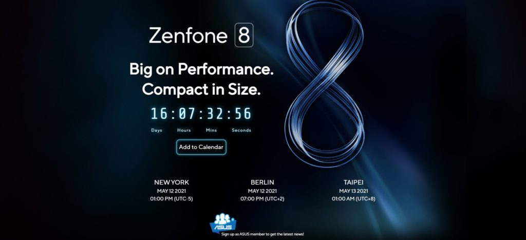 ASUS ZenFone 8 odliczanie do premiery
