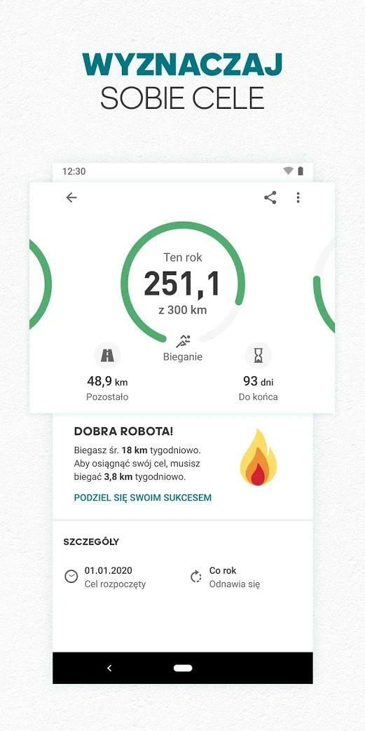 aplikacja do biegania adidas running