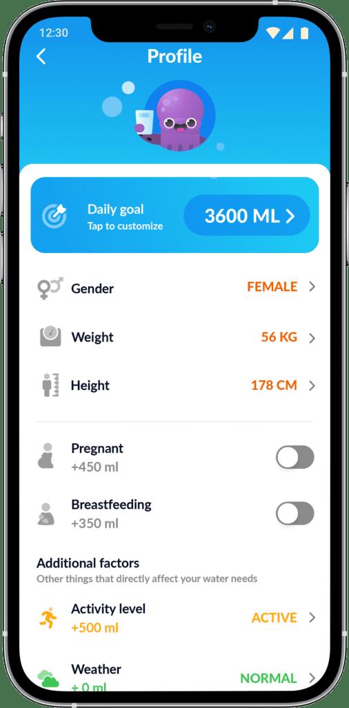 aplikacja do picia wody