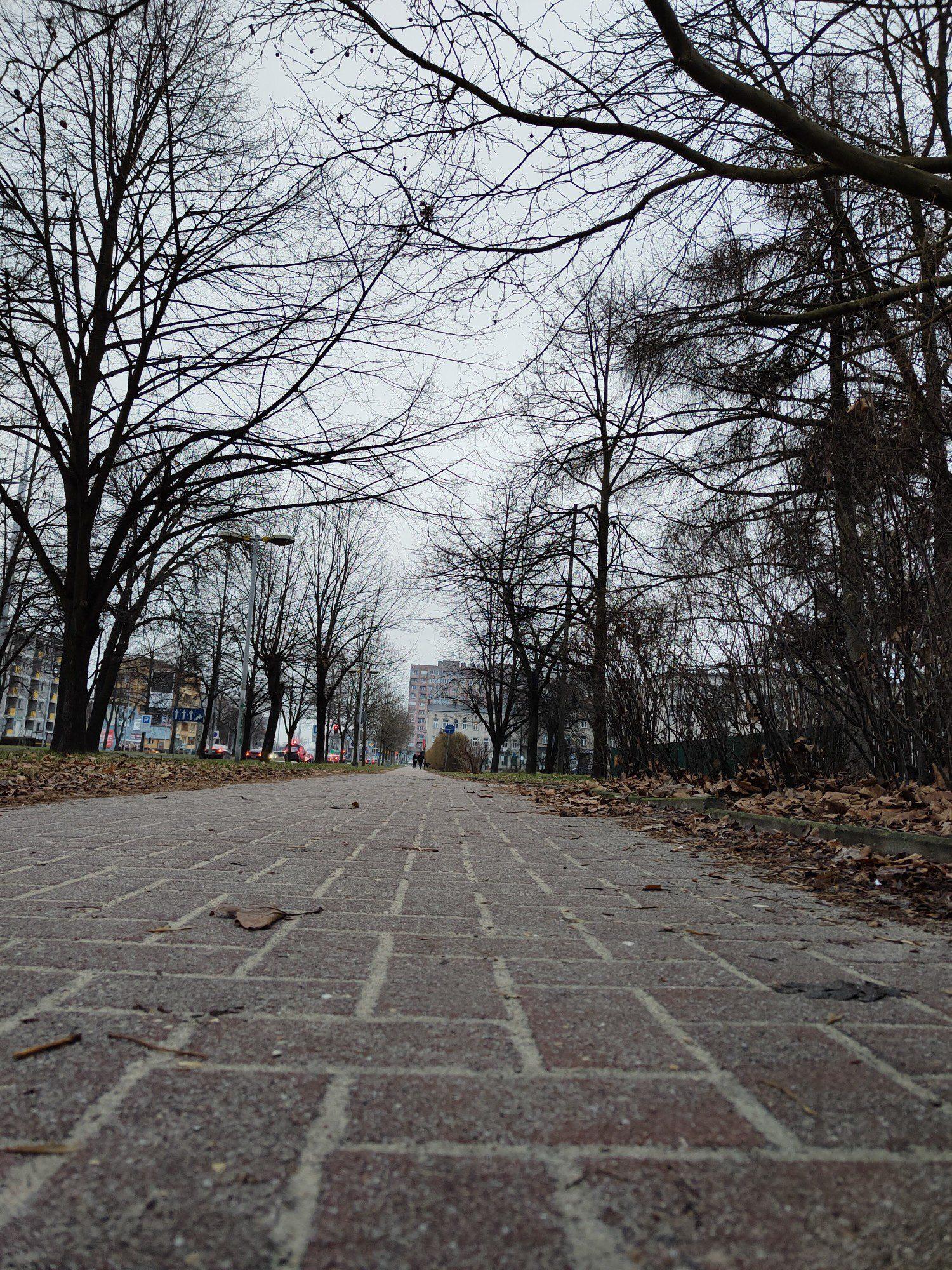 zdjęcie chodnika w trybie standardowym realme 8 pro