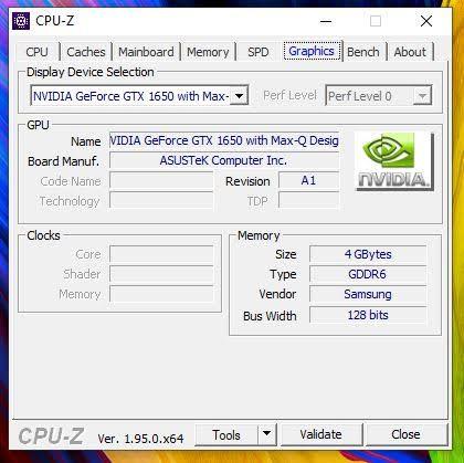 CPU Z ZenBook Flip 15 UX564P grafika