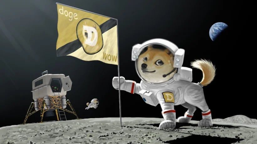 Dogecoin kryptowaluta mem