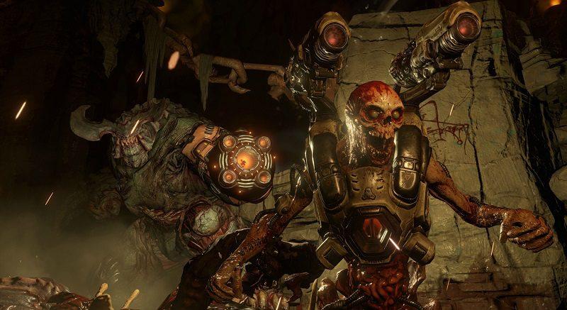 Doom gra Cyberdemon bohaterowie