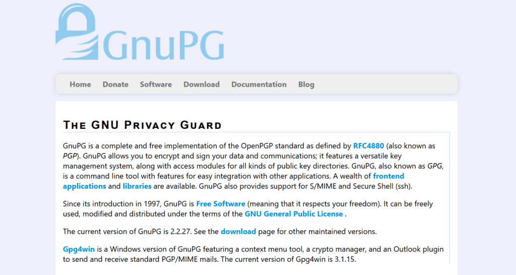 GnuPG oprogramowanie