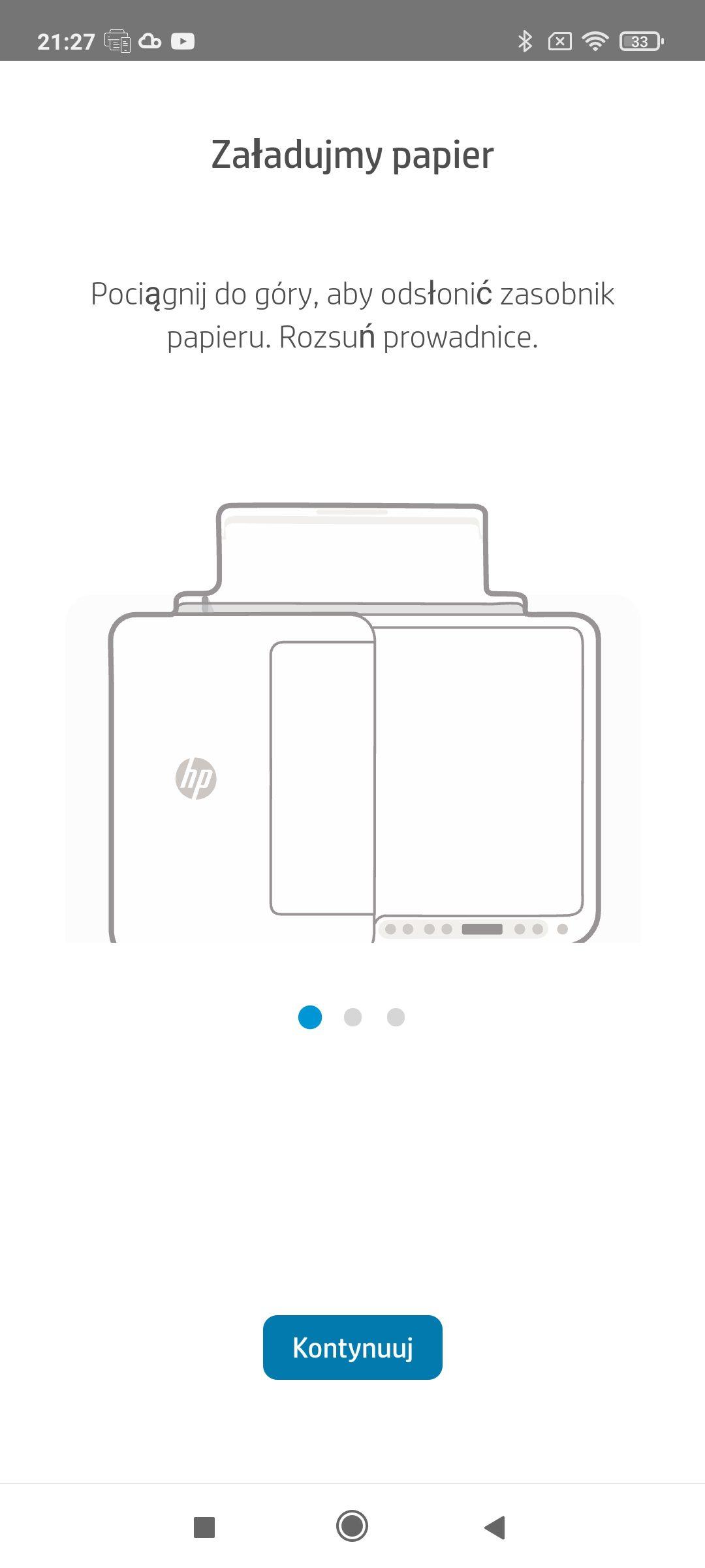 hp smart załadowanie papieru