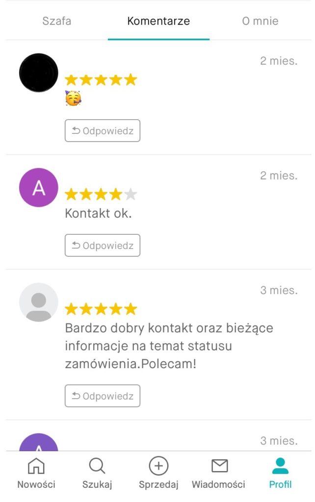 Vinted komentarze użytkowników