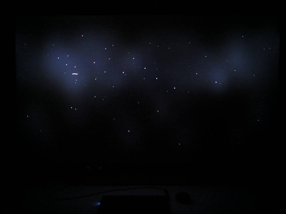 scena z filmu pierwszy człowiek na ekranie xiaomi mi tv q1 75