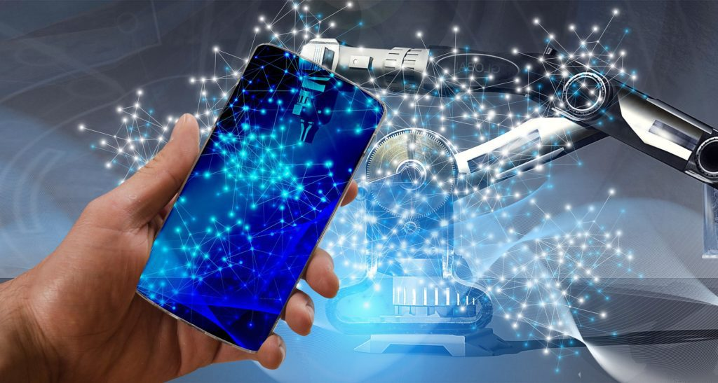 rewolucja przemysłowa internet rzeczy smartfon robot