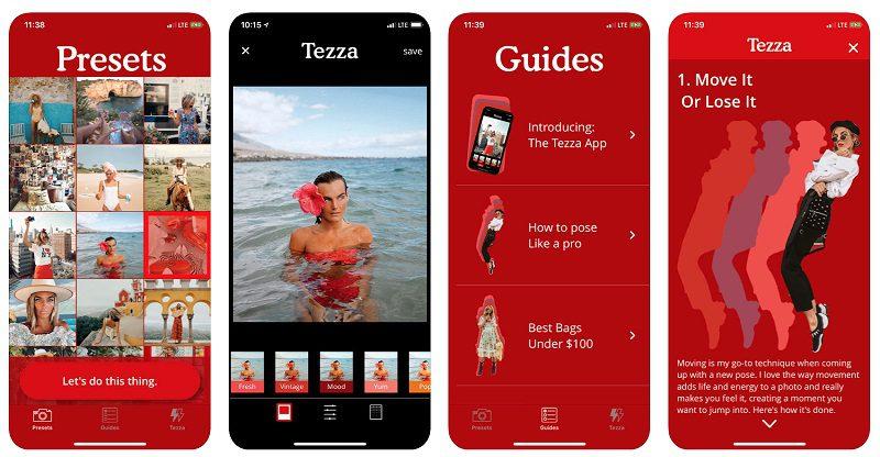 Aplikacja Tezza zdjęcie poglądowe