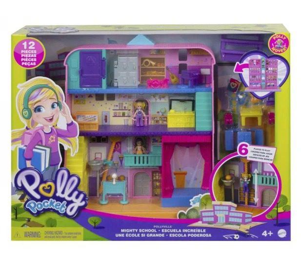zabawka Mattel Polly Pocket Pollyville Szkoła Zestaw do zabawy