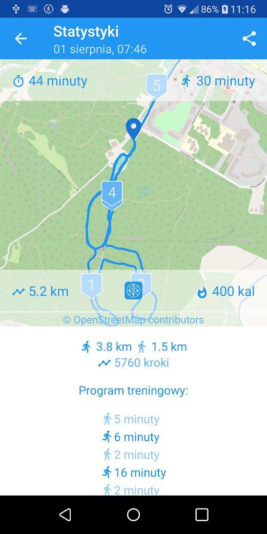 zacznij biegać bieganie dla początkujących aplikacja
