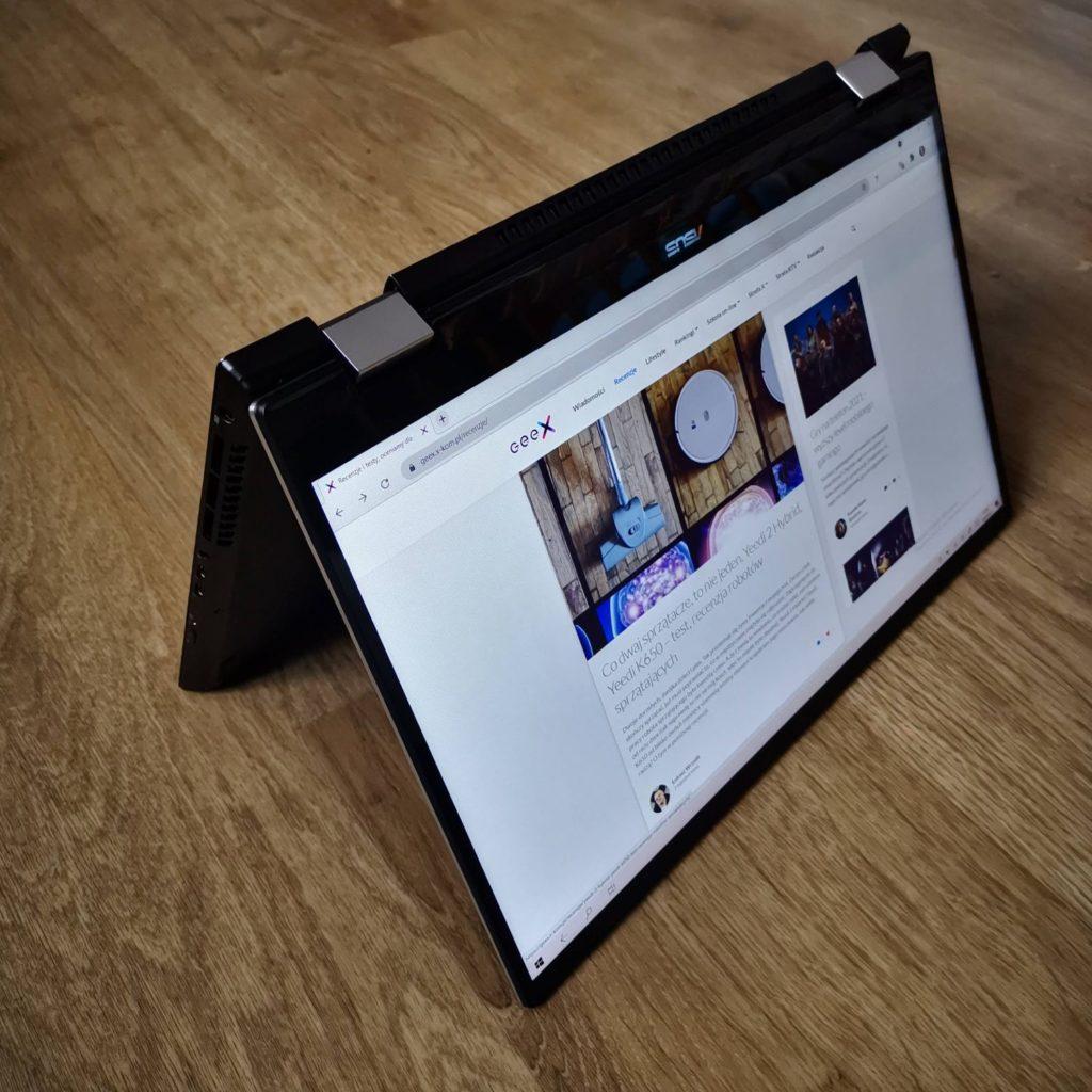 ASUS ZenBook Flip 16 UX564P tryb namiotu