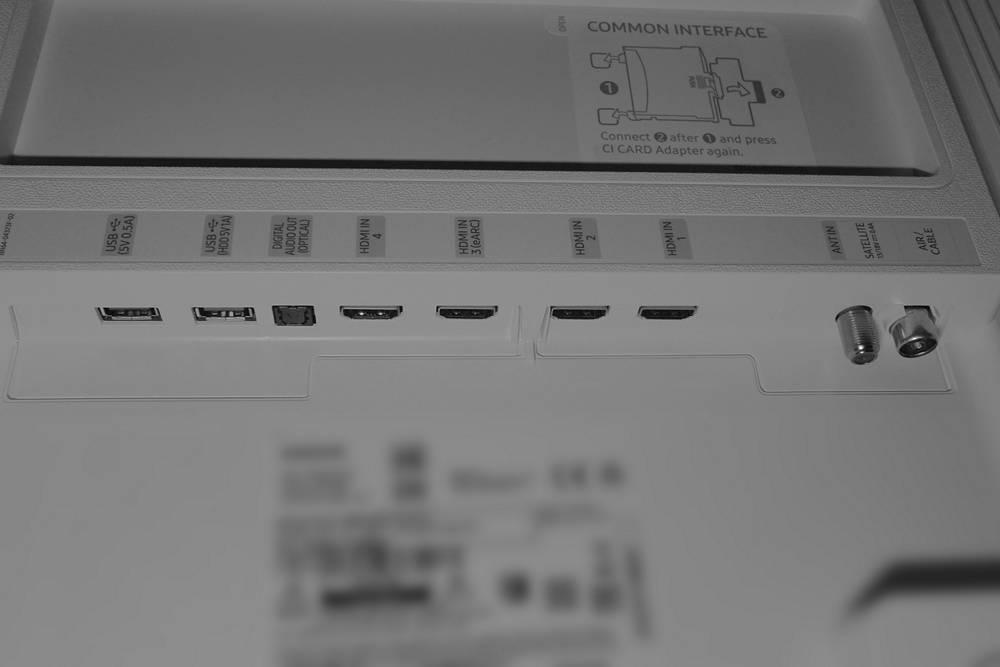 złącza telewizora samsung the serif qe43ls01t