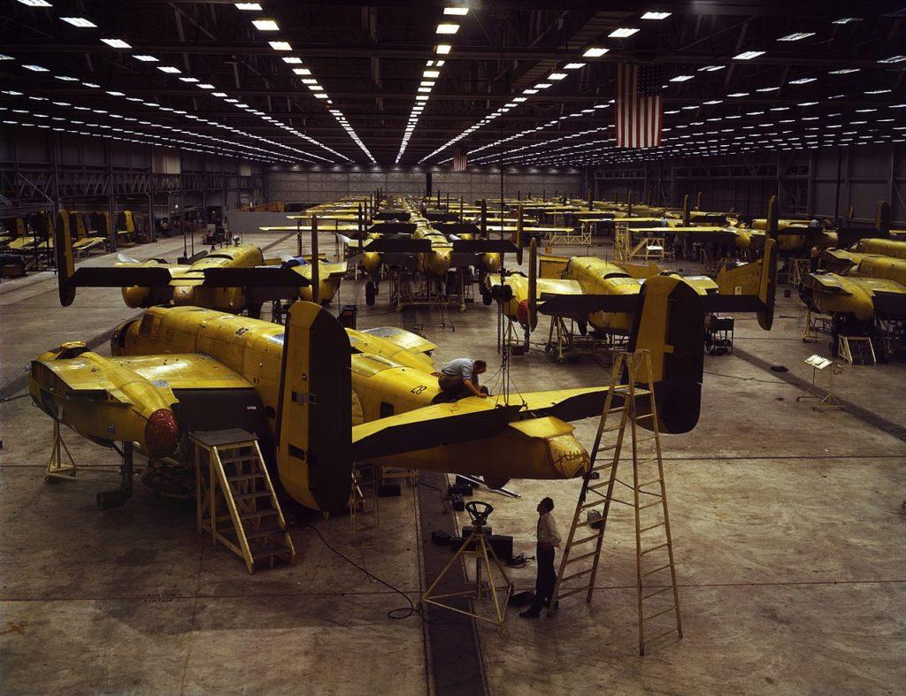 B-25 linia montażowa 1942