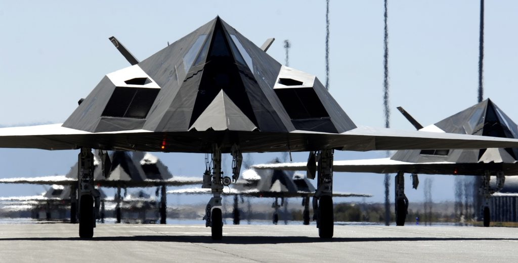 F-117 przed startem