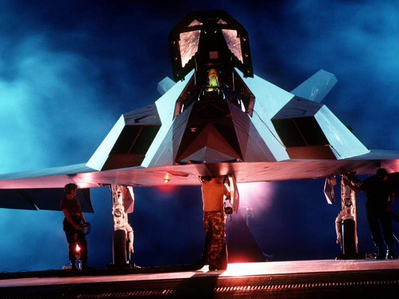 F-117 Nighthawk. As w rękawie.