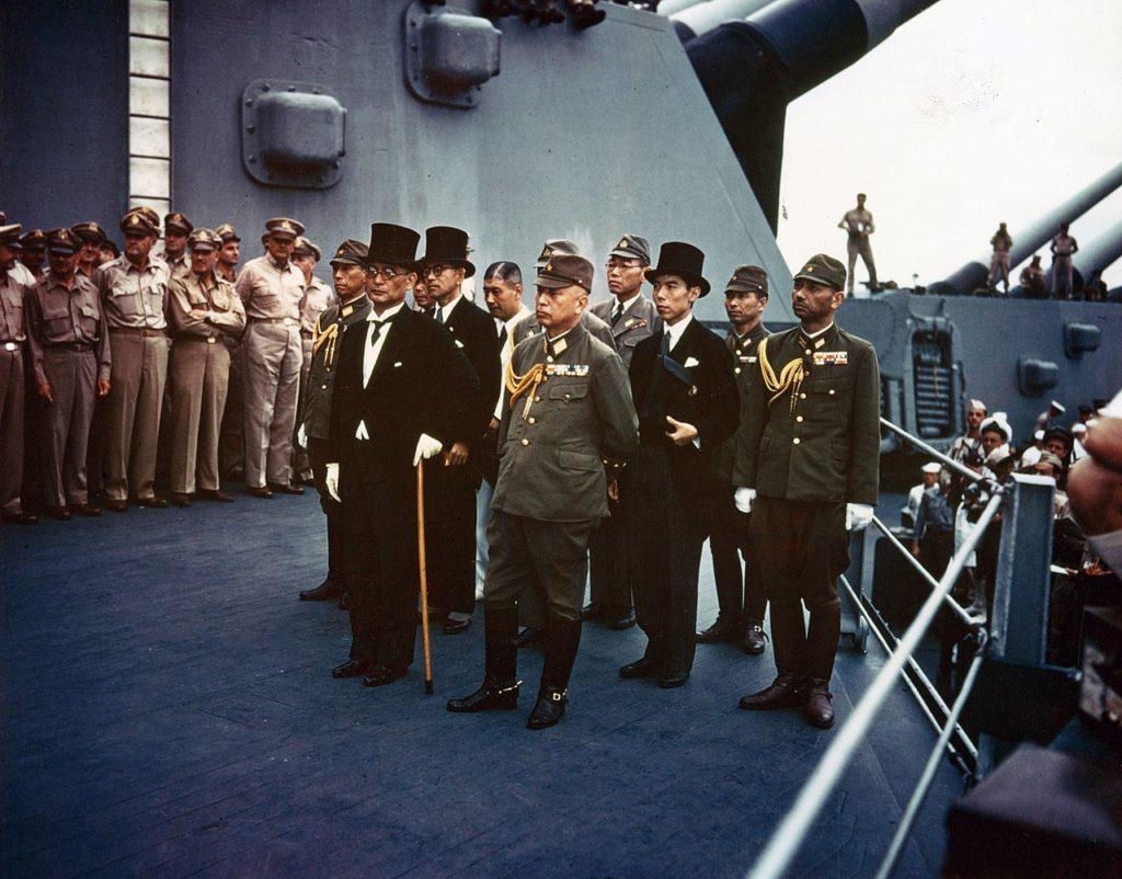 USS Missouri Japonia kapituluje