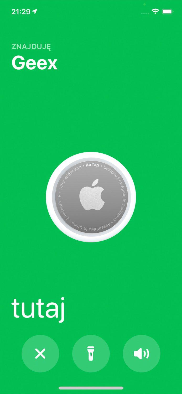 apple airtag odnaleziony