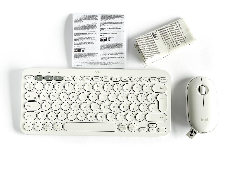 logitech k380 biały zestaw