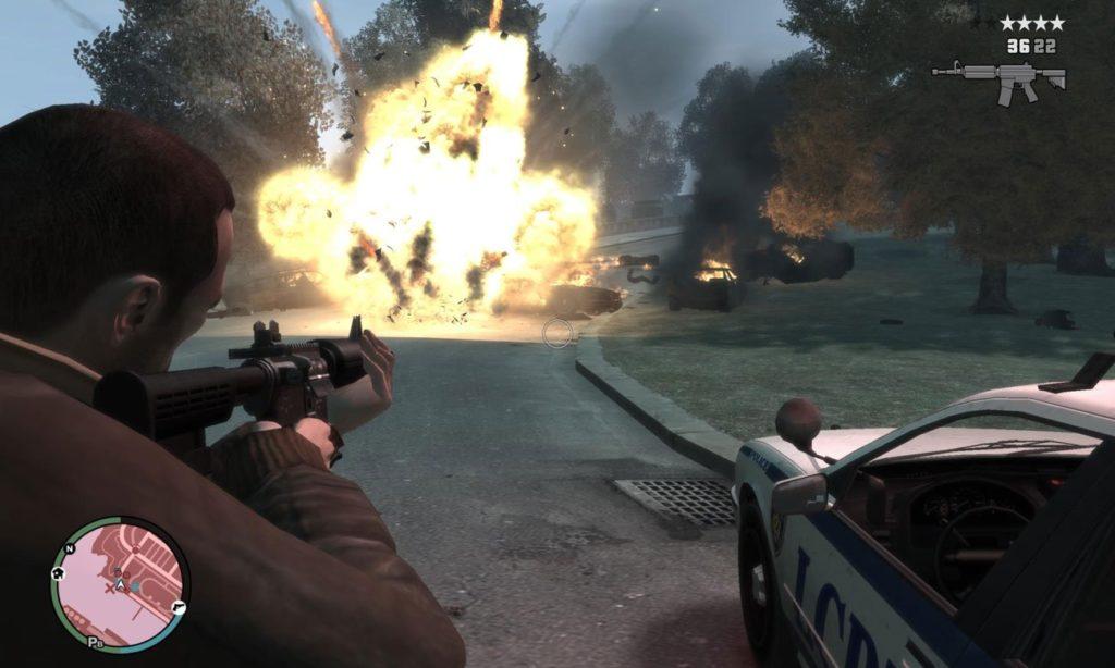 GTA 4 wybuch