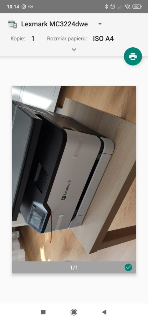 lexmark mc3224dwe drukowanie ze smartfona