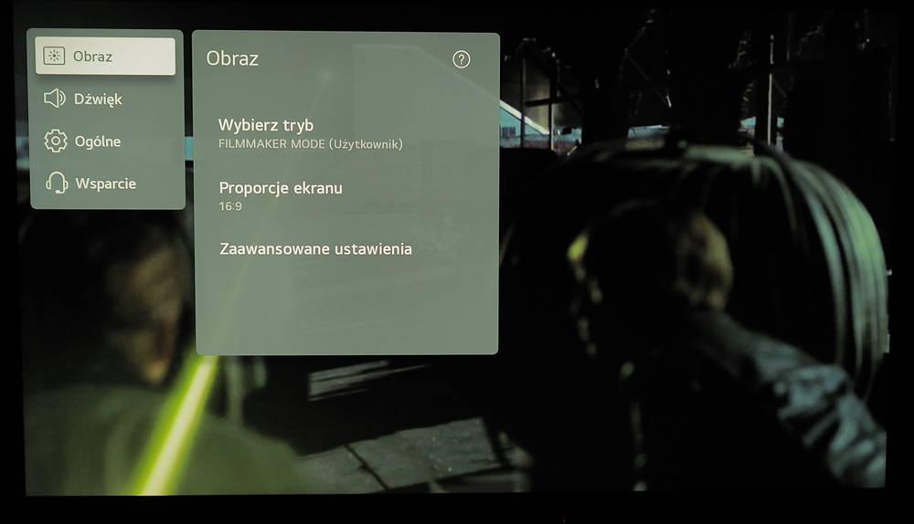 menu telewizora lg 50nano753pa