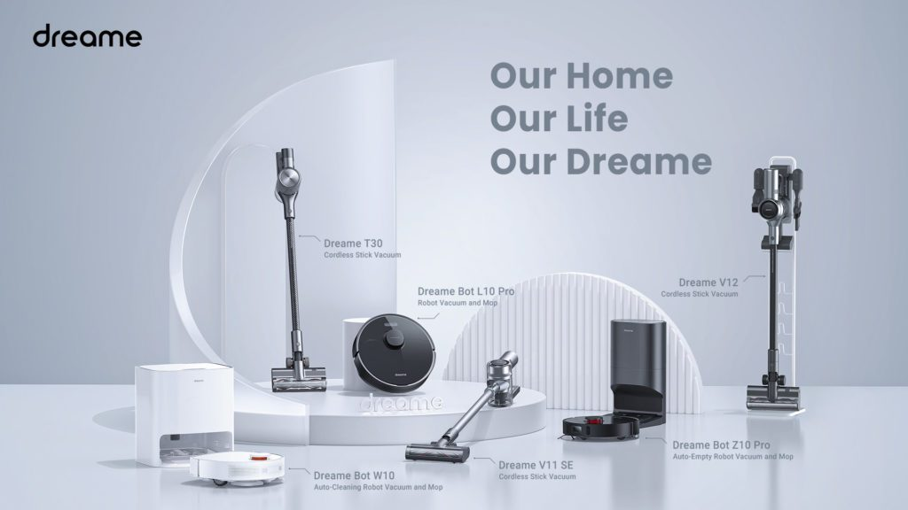 nowości Dreame roboty odkurzacze