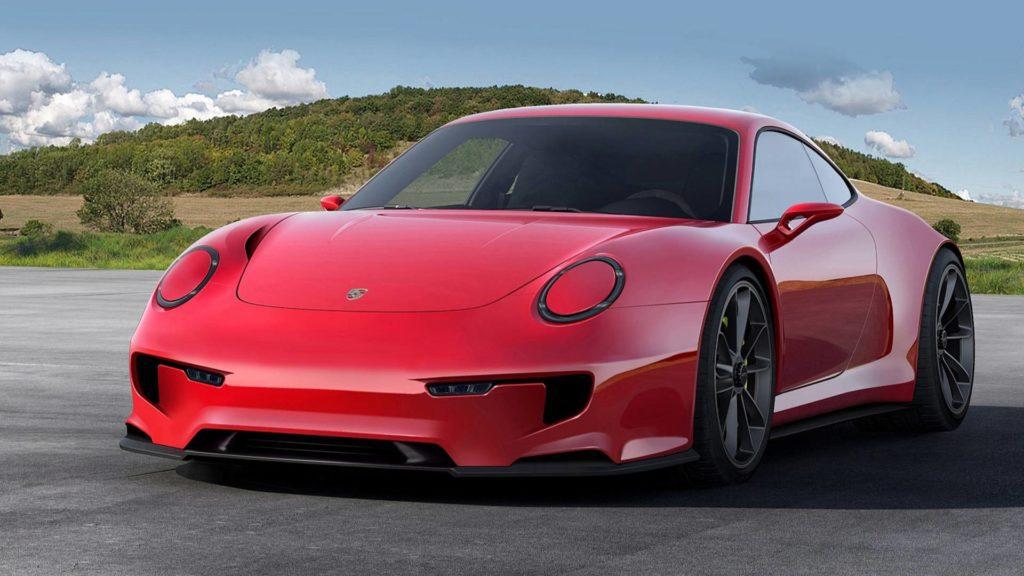 Porsche 911 Mission E elektryczny