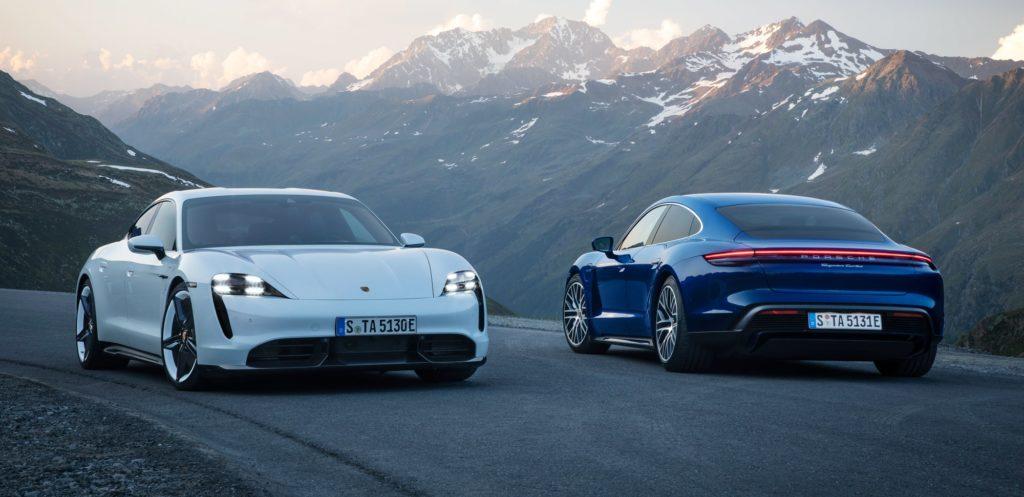 Porsche Taycan samochód elektryczny
