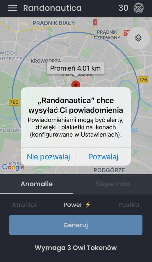 Randonautica aplikacja proces