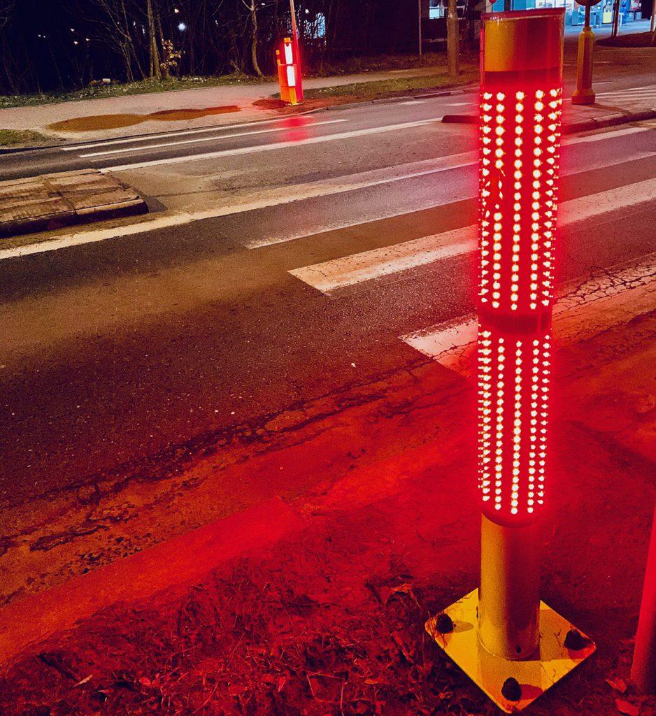 safepass inteligetne przejście LED czerwone